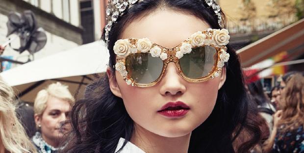 Gafas Dolce & Gabanna Flower Lace con cristales de swarovski