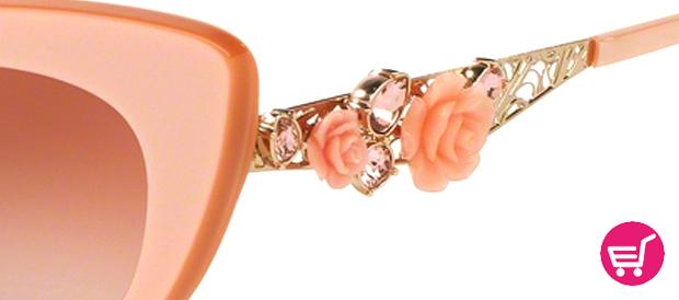 Gafas Dolce & Gabanna con apliques rosas y cristales swarovski