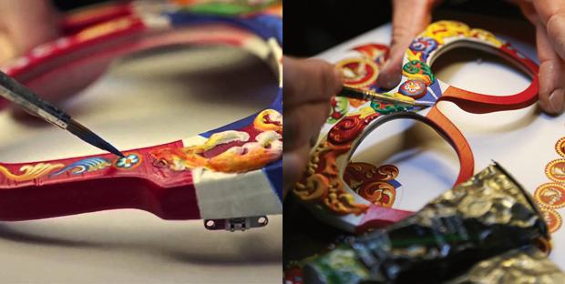 gafas Dolce & Gabbana Sicilian Carreto en madera de nogal artesanales