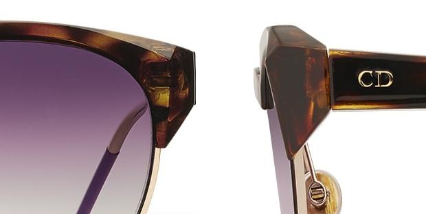 detalle de la montura tallada de las Dior Spectral