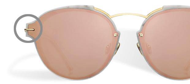 """gafas de sol con estilo retro """"Pantos"""" de Dior, modelo Dior Eclat"""