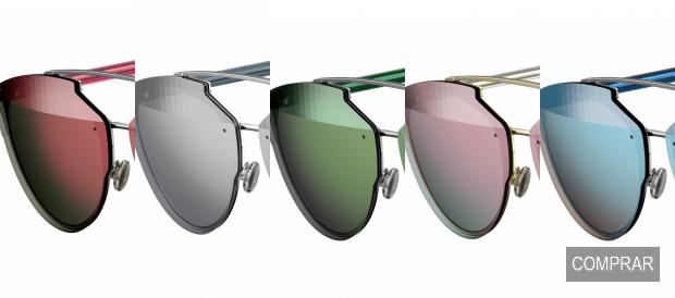 5 diferentes colores de las gafas de Sol Dior Reflected P