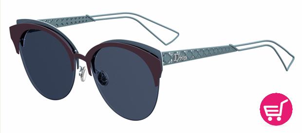 gafas de sol de DIor Diorama Club en color azul metalizado y cristales tintados