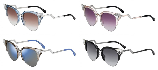 Colores de las gafas de Sol Iridia de Fendi