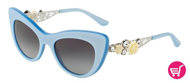 Gafas Dolce & Gabbana en azul celeste y con cristales swarovski