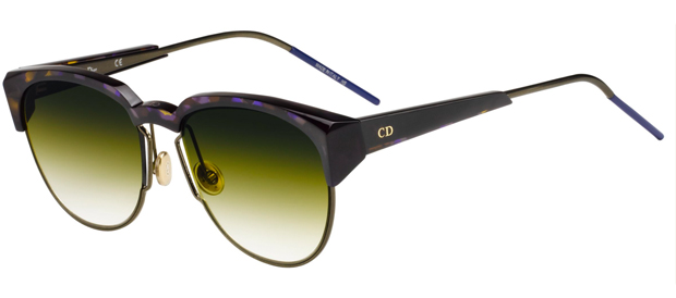 gafas de sol Spectral de Dior, con cristales tricolor en tonos verdes