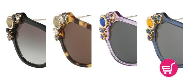 Diferentes colores del modelo de gafas 03SS de Miu Miu