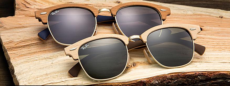 lentes ray ban madera
