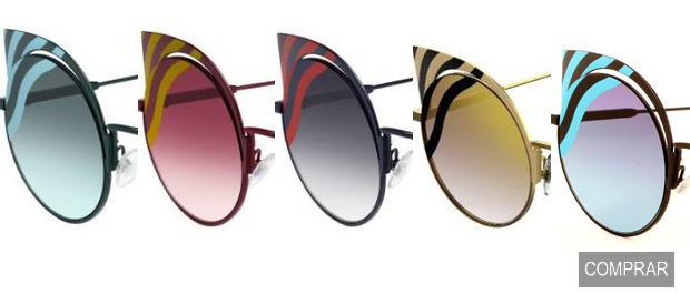Gama de colores de las Gafas de Sol Hypnoshine de Fendi
