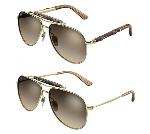 2fa40e0012 James Franco Imagen de Gafas de Sol GUCCI BAMBOO Sunglasses