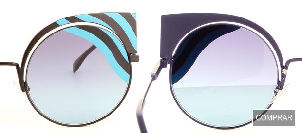 Detalle frontal y trasero de las Gafas de Sol Hypnoshine de Fendi